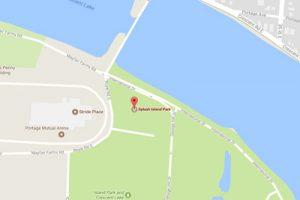 google map directions to splash island