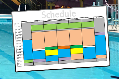 Splash Island Schedules