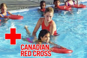 red cross swim instructor with child picture